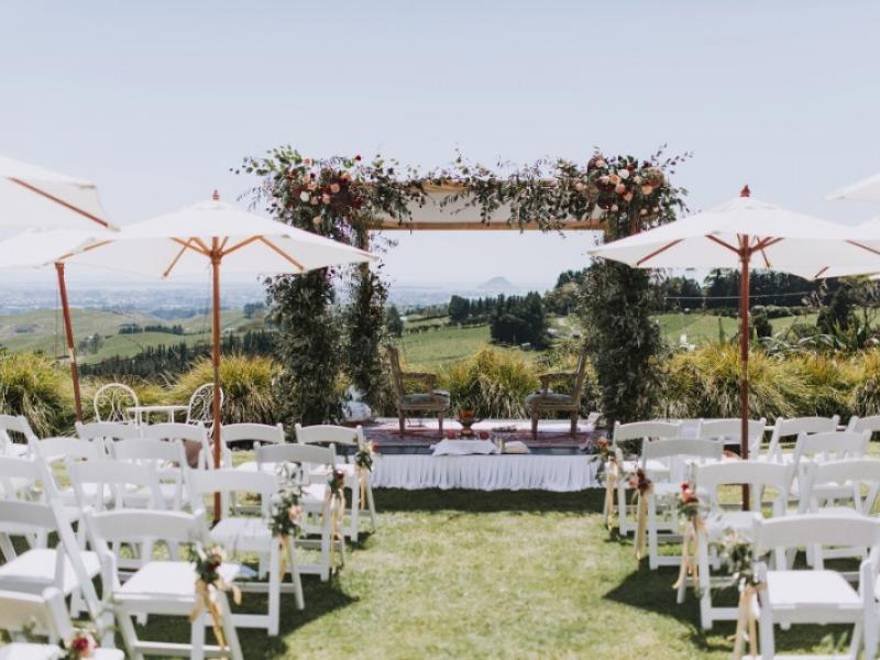 Breathtaking bay of plenty wedding venue