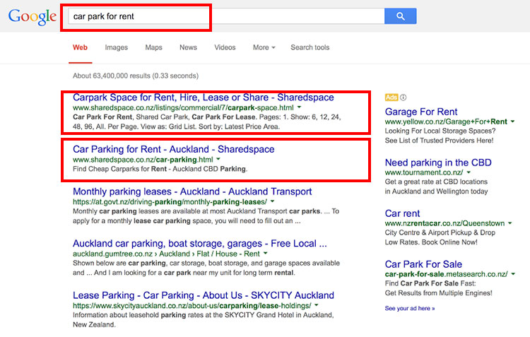 Car Park Google Search Results